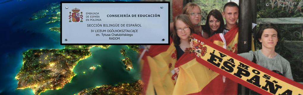 Nauka języka hiszpańskiego w ramach sekcji dwujęzycznej trwa cztery lata